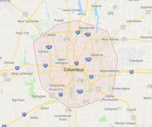 Columbus Ohio service area