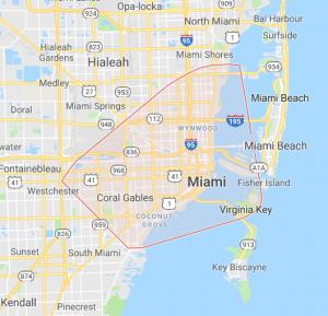 Miami FL service area