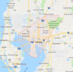 Tampa service area