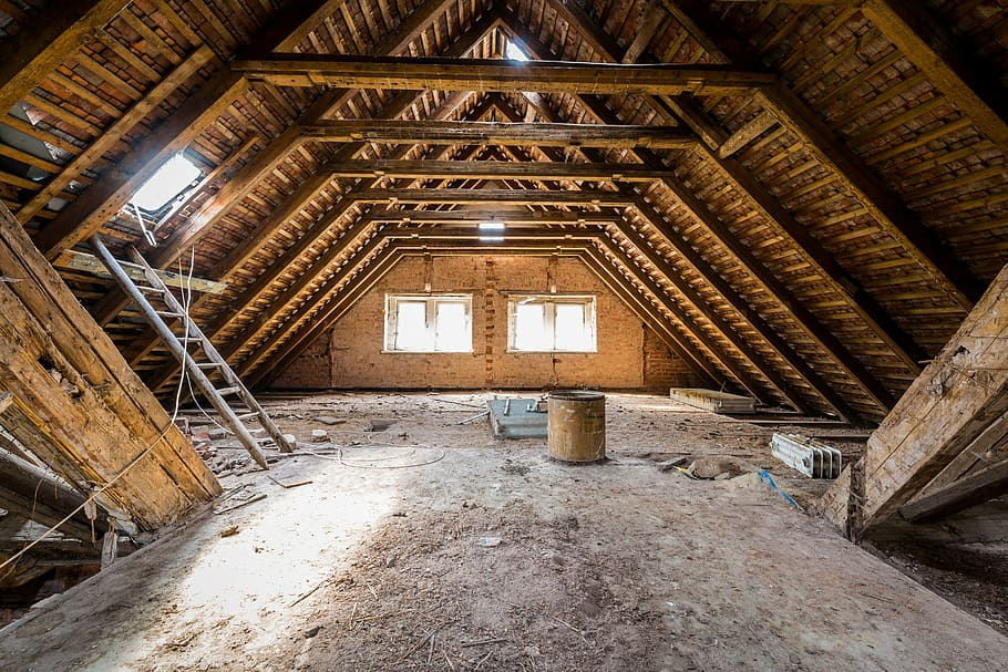 Photo of attic repaired after animal infestation